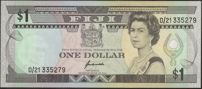 Fiji 1 Dollar 1993 P# 89