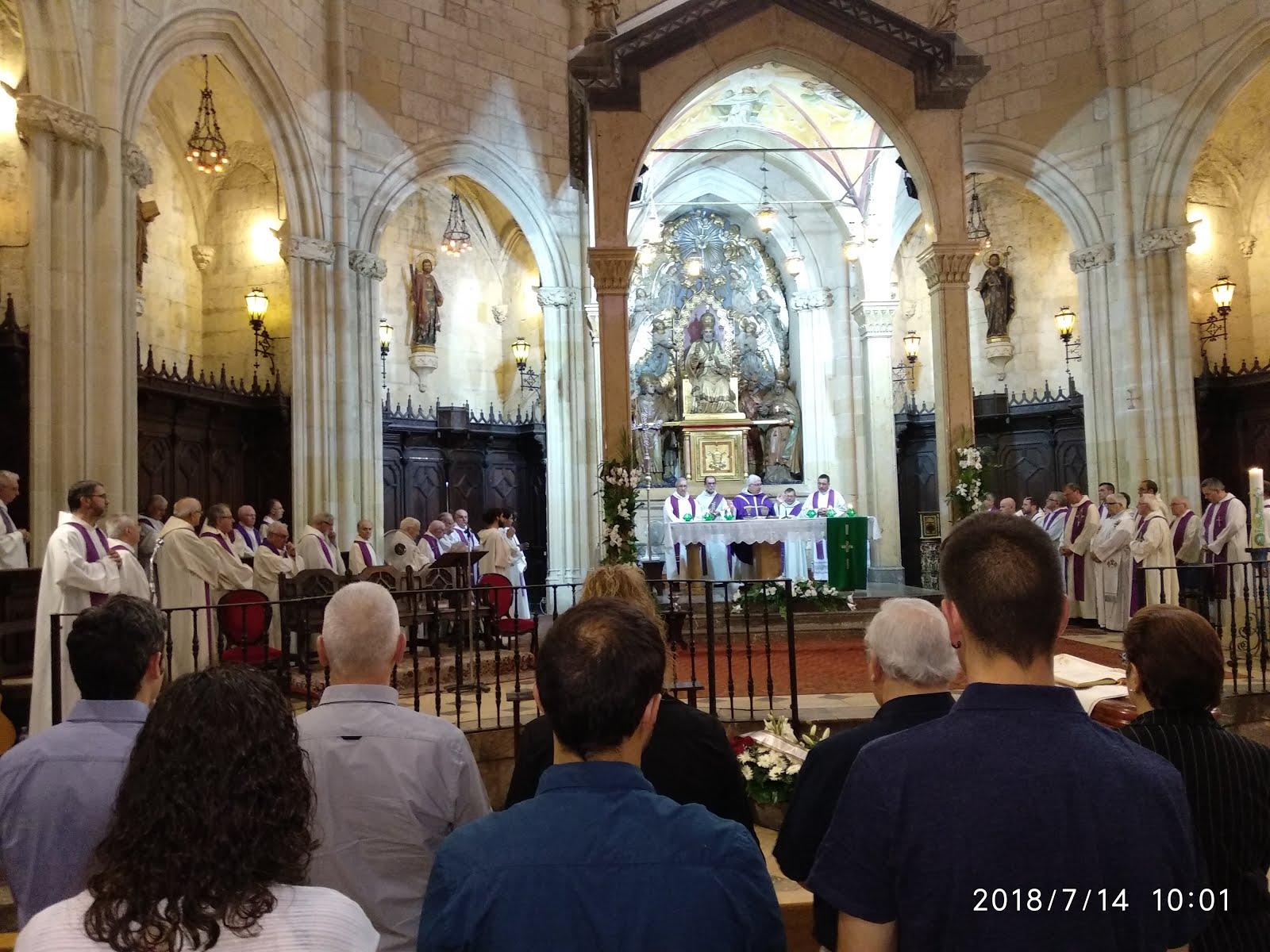 Vídeo resum de la missa funeral per Mn. A. Roquer (14-7-2018)