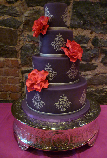 Wedding Cakes Pictures: Purple Damask Cakes