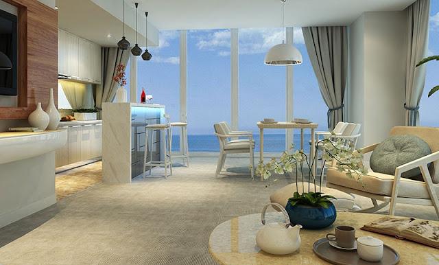 Nội thất trong căn hộ Vinpearl Condotel