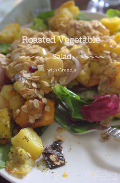 Roasted Vegetable with Granola - This and That @goldengirlgranola