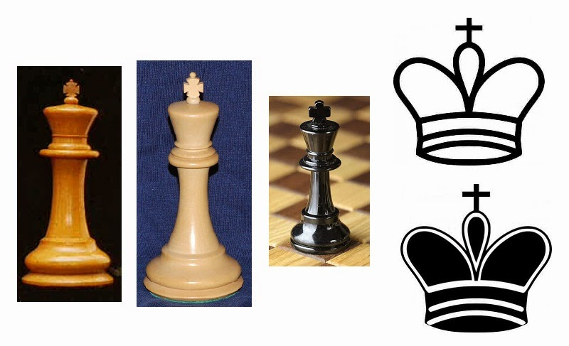 Tipe buah catur raja yang memiliki mahkota salib