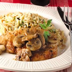 ... up - Chicken Marsala with Spinach, Tangerine & Glazed Almonds Salad