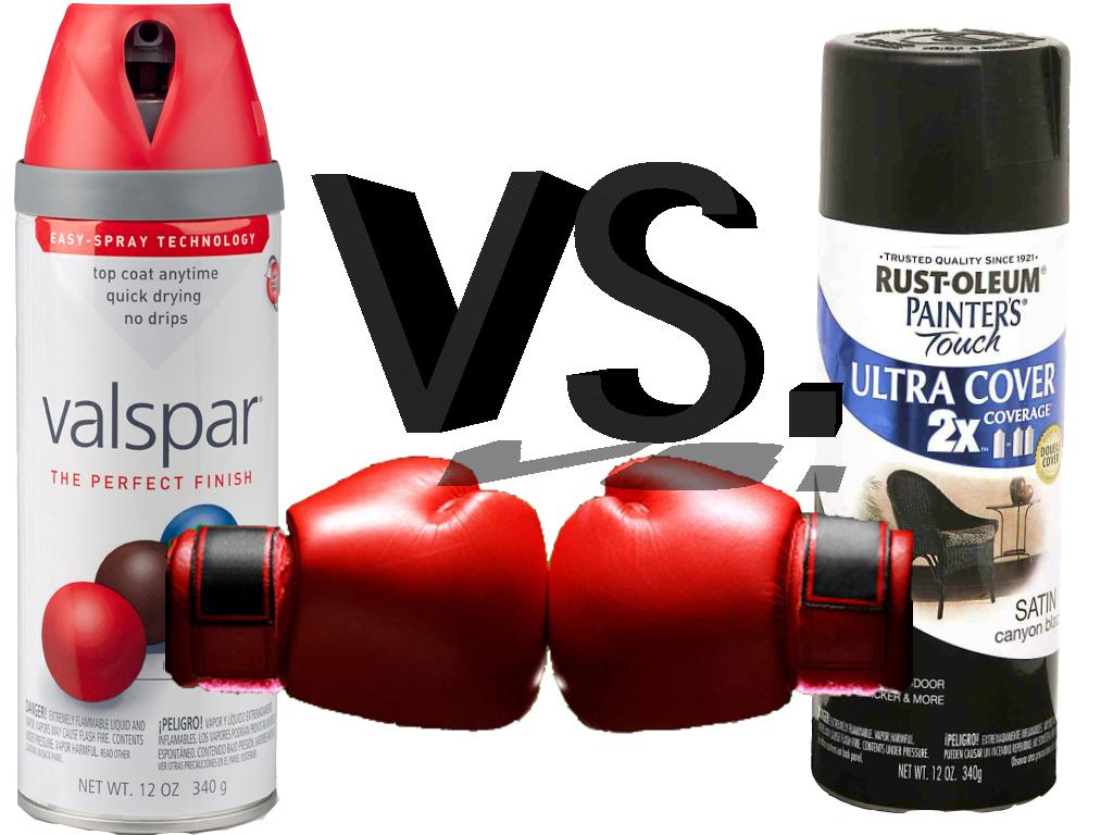 lesliegallery blog spray paint test rustoleum vs. Black Bedroom Furniture Sets. Home Design Ideas