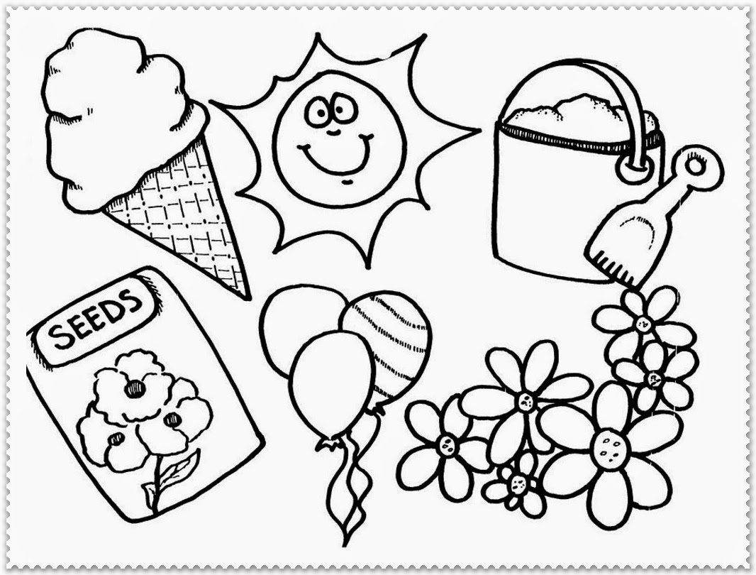 Spring coloring sheets for toddlers - Spring Coloring Pages For Toddlers