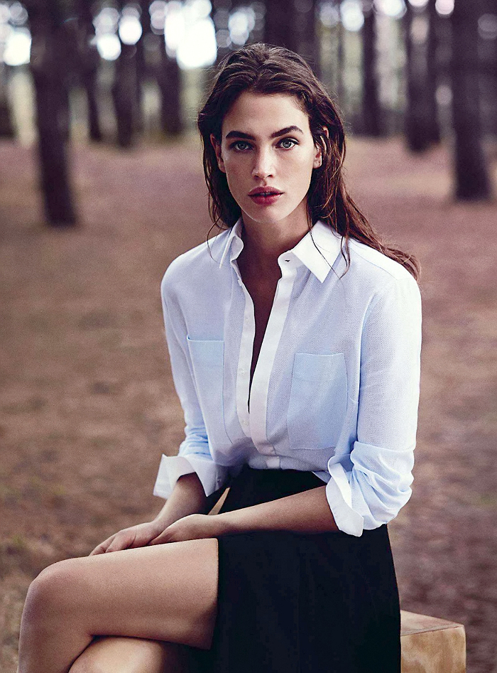 Crista Cober in Into the Woods / Vogue Australia May 2014 (photography: Will Davidson, styling: Christine Centenera) / white shirt in fashion editorials / short history of white shirt / wardrobe essentials / via fashioned by love british fashion blog