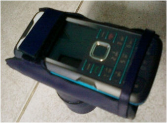 Posisi pemasangan HP sebagai alat bantu rekam