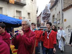Passejant la imatge de sant Antoni per la fira