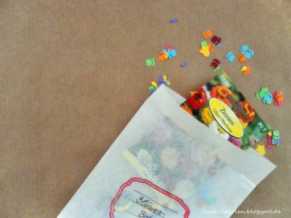 "DIY ""blühende Wundertüte"" zum Muttertag via funkelperlen.blogspot.de"