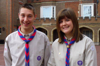 Stuart and Gemma to receive Queen's Scout Award