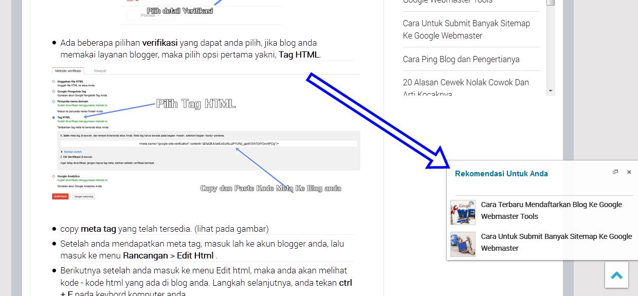 Cara Membuat Slide Box Artikel Rekomendasi