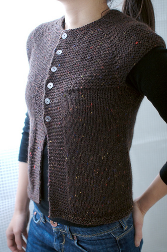 Knitting Pattern Cardigan Vest : knitnscribble.com: Free top down patterns for all seasons