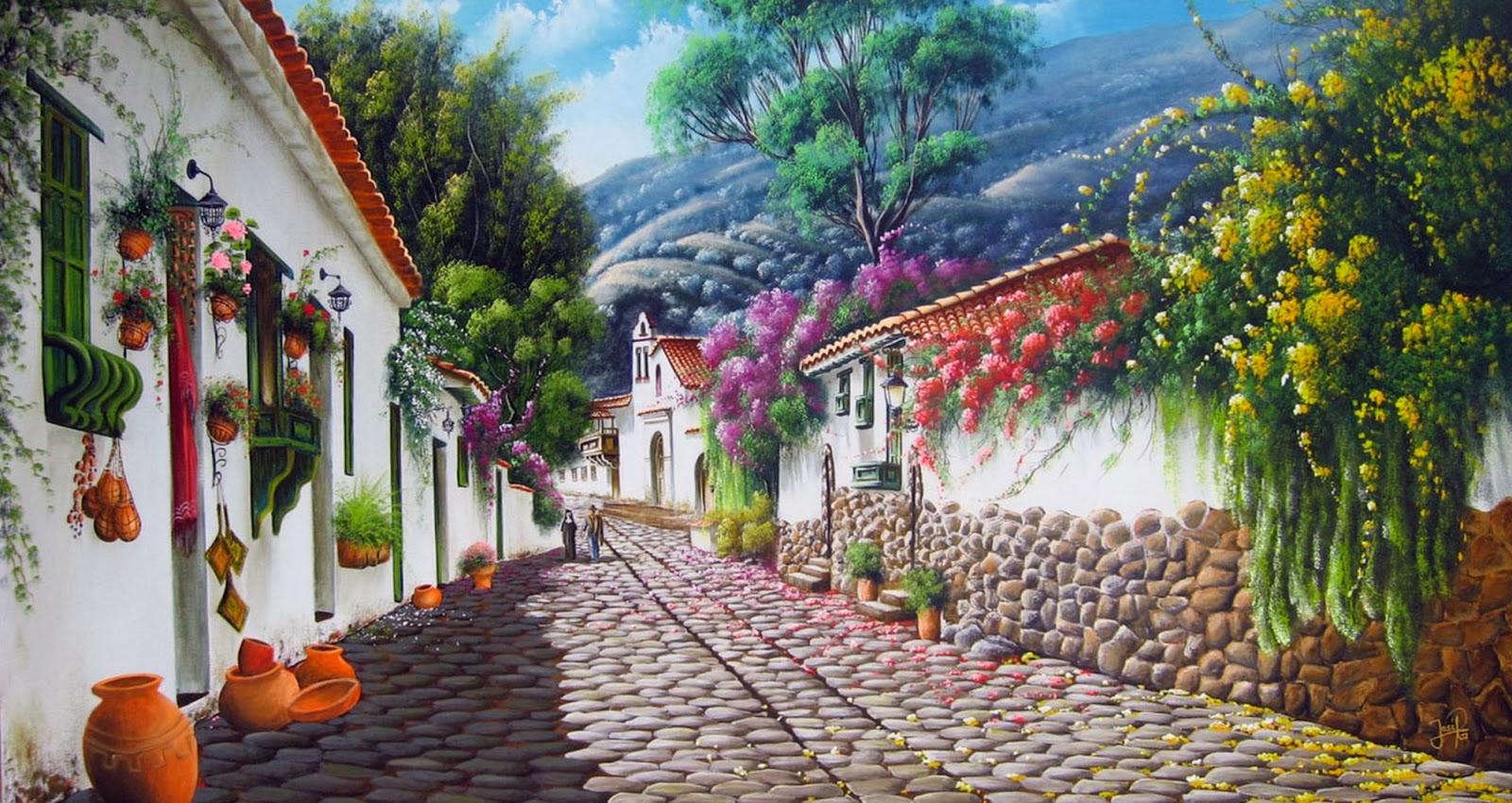 Pintura moderna y fotograf a art stica pintores de paisajes colombianos paisajes costumbristas - Pintores en cartagena ...