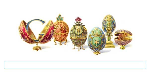 Logo Google 30 Mei 2012 Hari Ini, Peter Carl Fabergé Pengrajin Telur Paskah Dari Emas Logo Google 30 Mei 2012, Siapa Sih Logo Google Hari ini 30 Mei 2012