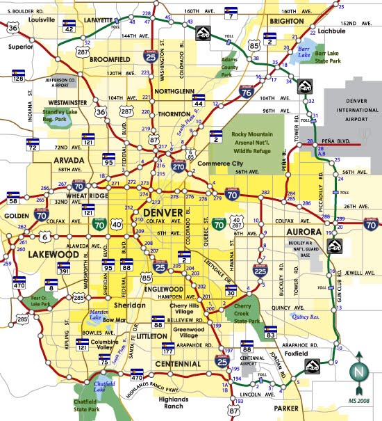 Printable Map Of Denver Co