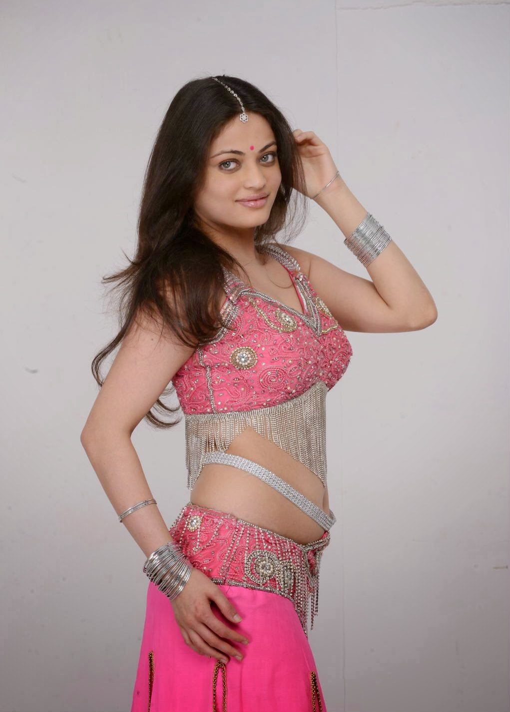 actress sneha ullal in hot pink dress