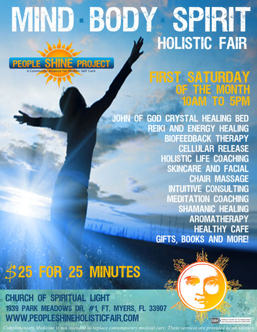 Welcome to People Shine MIND-BODY-SPIRIT Holistic Fair