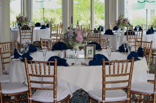 Table Centerpieces - Albany Country Club Wedding - Splendid Stems Floral Designs