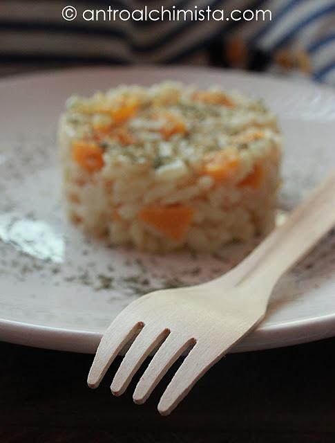 risotto con peperoni arancioni e robiola