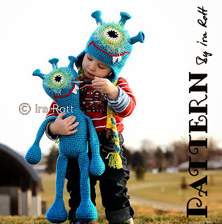 Plutonian Paul Hat and Toy Doll Set Crochet Pattern