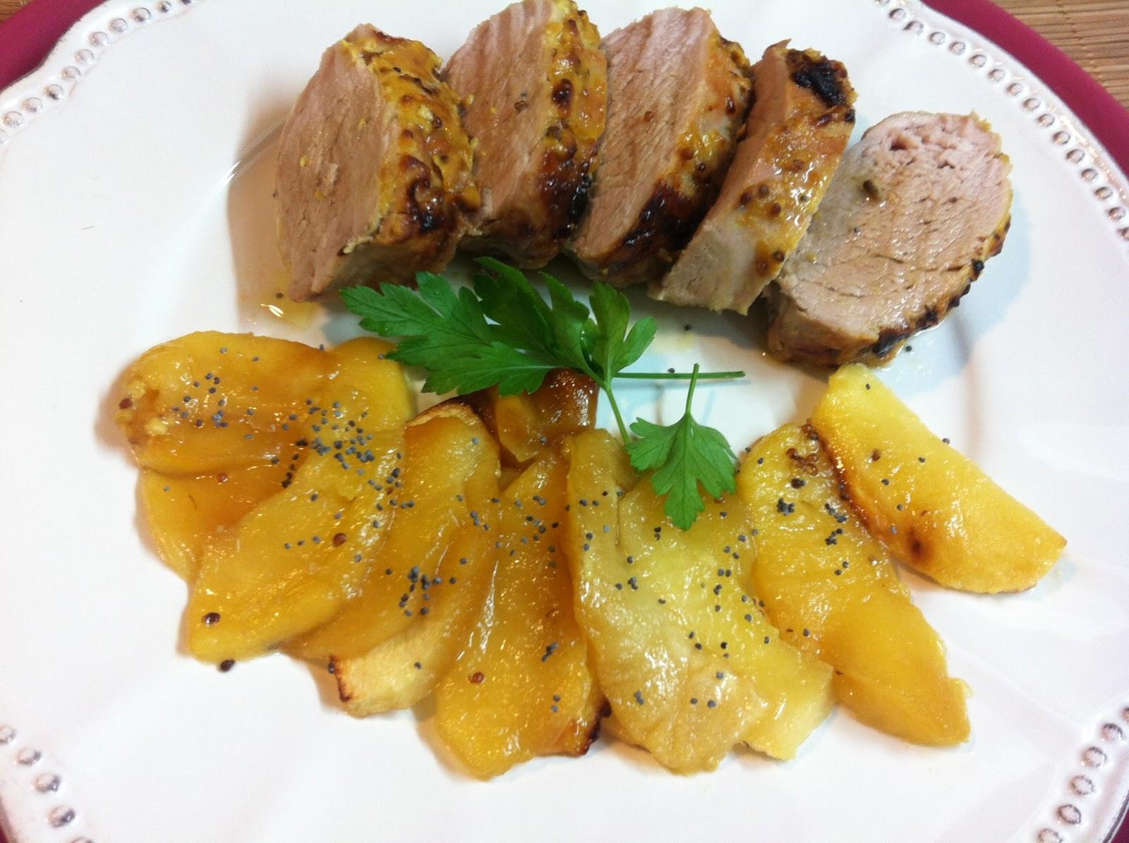 Las recetas de martuka solomillo de cerdo con mostaza y miel - Solomillo de ternera al horno con mostaza ...