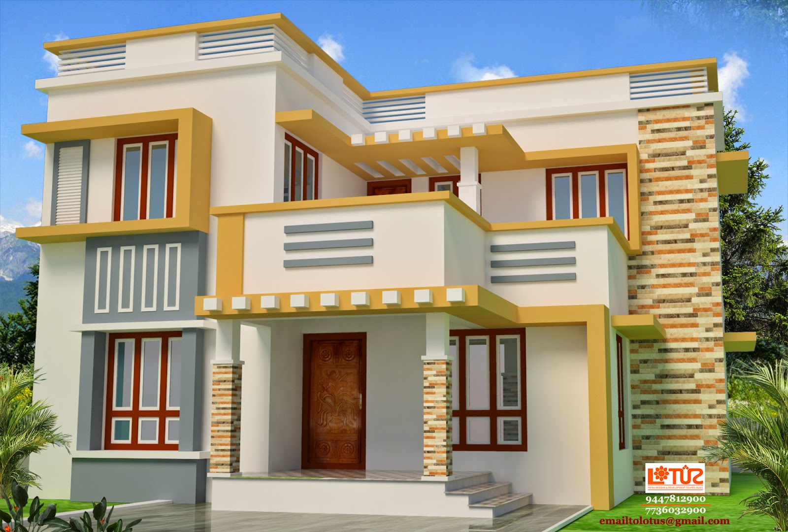 Veedu designs joy studio design gallery best design for Veedu elevation
