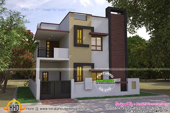 Kerala home design and floor plans for Cost to build 2000 sq ft house