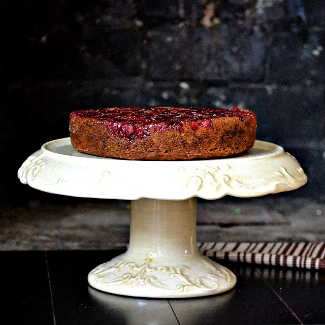 Cranberry Pumpkin Upside down cake