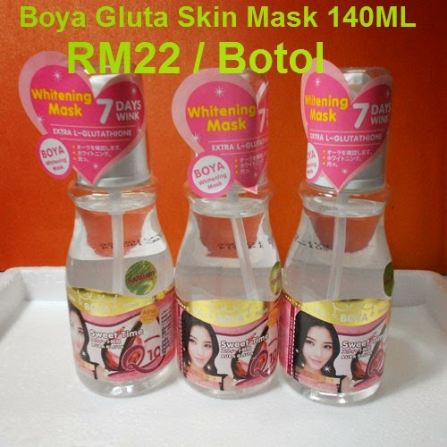BOYA GLUTA SKIN MASK : RM22 / BOTOL