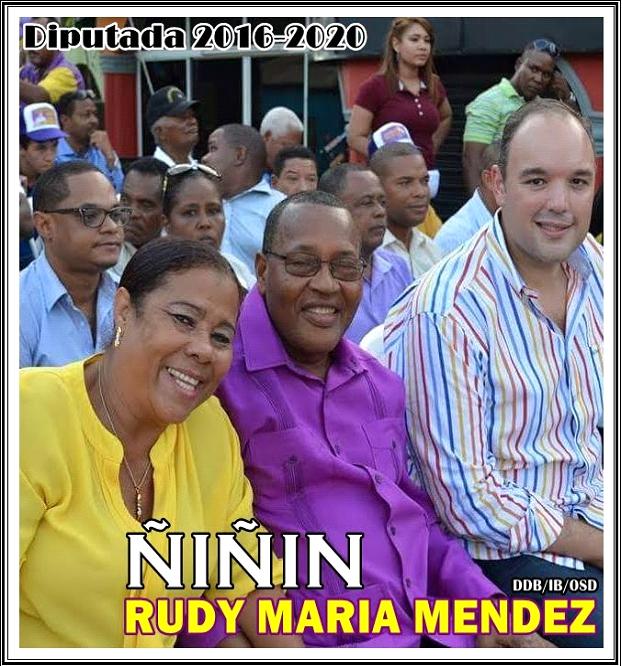 RUDY MARIA MENDEZ (ÑIÑIN), DIPUTADA PLD BARAHONA 2016-2020, DE FRENTE AL PUEBLO