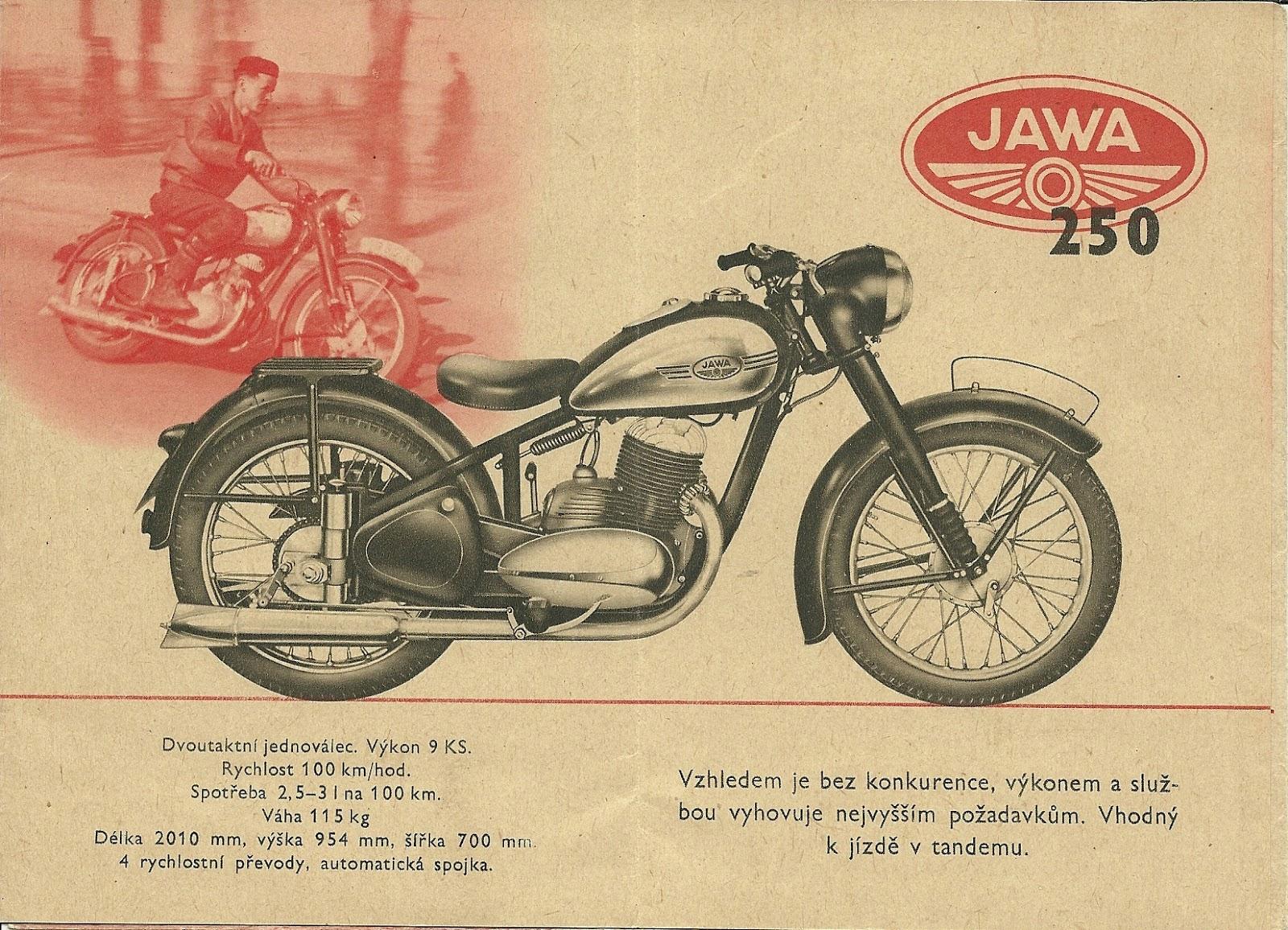 Ulotka reklamowa Jawa 250