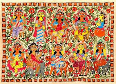 Madhubani Folk Art Painting