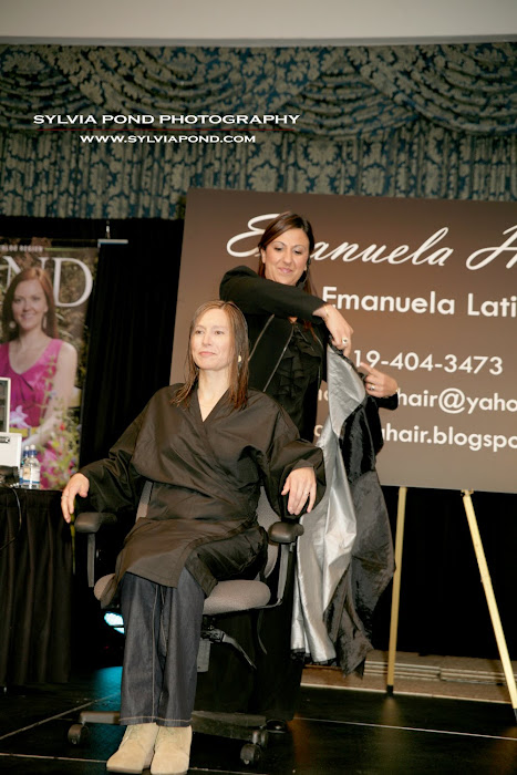 Emanuela Live Make Over with Melinda Bourdon at Grand Home and Life Show April 2012