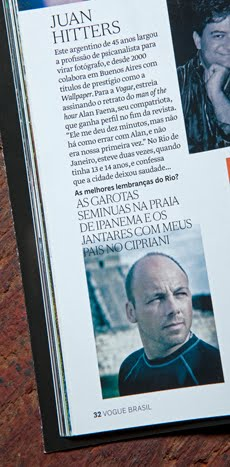 Juan is featured in the contributor's page in VOGUE Brasil (November Issue)