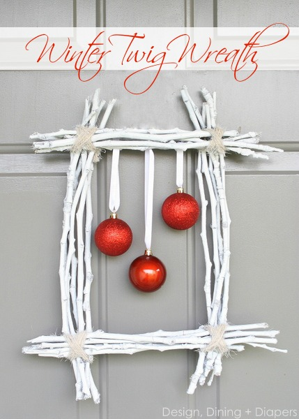 Someday Crafts: Twig Framed Ornaments