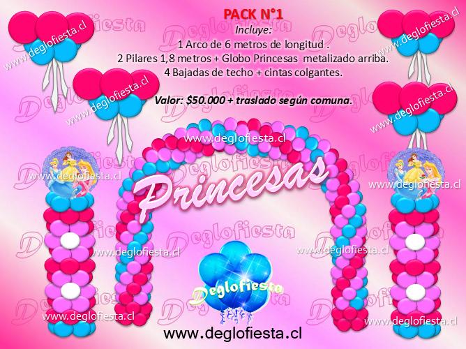 con globos para cumpleaos de las princesas