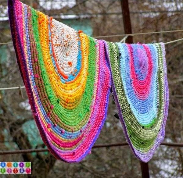 alfombra trapillo multicolor