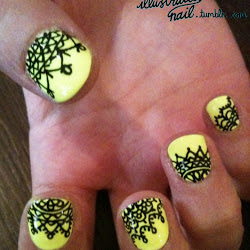 Fotos de Unhas Decoradas Amarelas