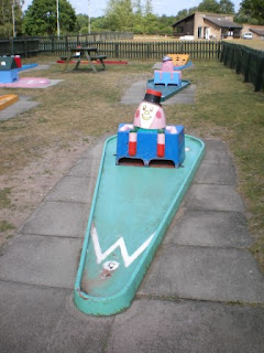 Crazy Golf at Bainland Country Park in Woodhall Spa