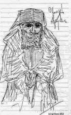 Σκίτσο του Αγίου Γέροντος Παϊσίου του Νίκου Λυγερού