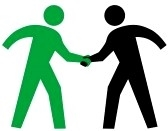 Clipart two people meeting