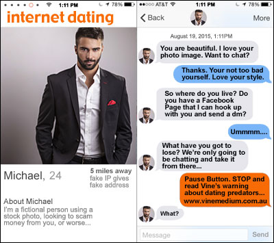 Online dating predators in Melbourne