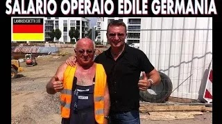 STIPENDIO Operaio EDILE in GERMANIA !!!!