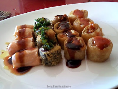 Restaurante Takê: Combinado de Hot Roll e outros Hossomakis