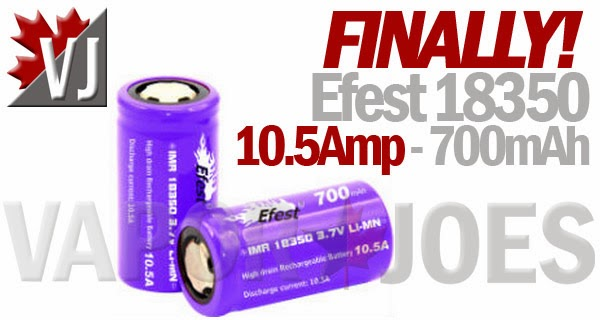 NEW! Efest 18350 Battery with 700mAh and 10.5Amp Output!