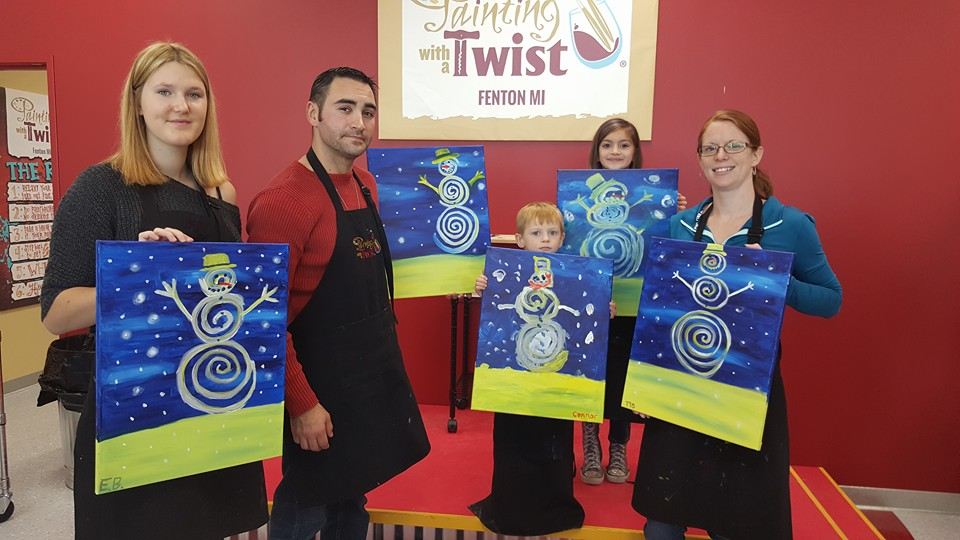 Painting with a twist fenton review by melanie briggs for Painting with a twist fenton mi