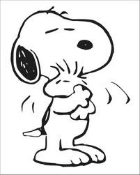 Snoopy and Woodstock Valentine Coloring Pages