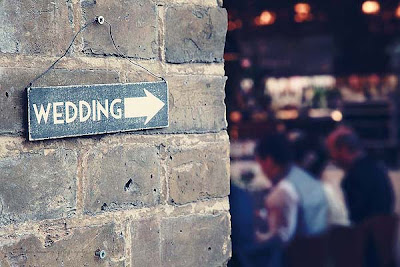 wedding sign outside St Chads place kings cross