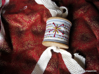 Cotton reel ornament