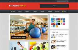 fitness blogger template free download